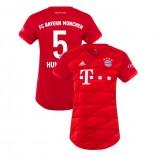 Women's Bayern Munich 2019-20 Home #5 Mats Hummels Red Authenitc Jersey