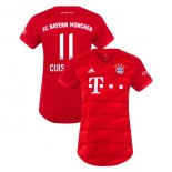 Women's Bayern Munich 2019-20 Home Stadium #11 Mickael Cuisance Red Authenitc Jersey