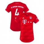 Women's Bayern Munich 2019-20 Home #4 Niklas Sule Red Authenitc Jersey