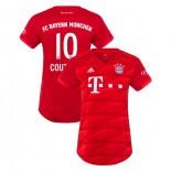 Women's Bayern Munich 2019-20 Home Stadium #10 Philippe Coutinho Red Replica Jersey