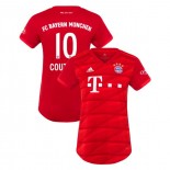 Women's Bayern Munich 2019-20 Home Stadium #10 Philippe Coutinho Red Authenitc Jersey