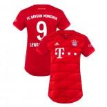 Women's Bayern Munich 2019-20 Home #9 Robert Lewandowski Red Replica Jersey