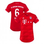 Women's Bayern Munich 2019-20 Home #6 Thiago Red Authenitc Jersey