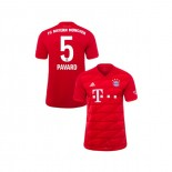 KID'S Bayern Munich 2019-20 Home #5 Benjamin Pavard Red Authenitc Jersey