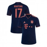 KID'S Bayern Munich 2019-20 Third Champions League #17 Jerome Boateng Navy Authenitc Jersey