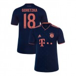 KID'S Bayern Munich 2019-20 Third Champions League #18 Leon Goretzka Navy Replica Jersey