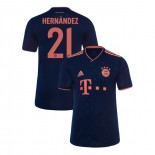 KID'S Bayern Munich 2019-20 Third Champions League #21 Lucas Hernandez Navy Replica Jersey