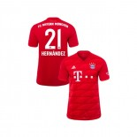 KID'S Bayern Munich 2019-20 Home #21 Lucas Hernandez Red Authenitc Jersey