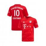 KID'S Bayern Munich 2019-20 Home Stadium #10 Philippe Coutinho Red Authenitc Jersey