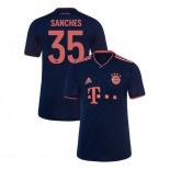 KID'S Bayern Munich 2019-20 Third Champions League #35 Renato Sanches Navy Replica Jersey
