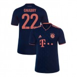 KID'S Bayern Munich 2019-20 Third Champions League #22 Serge Gnabry Navy Replica Jersey