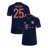 KID'S Bayern Munich 2019-20 Third Champions League #25 Thomas Muller Navy Authenitc Jersey